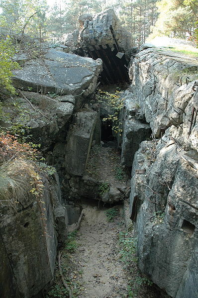 Остатки бункера «Panzerwerk 865».