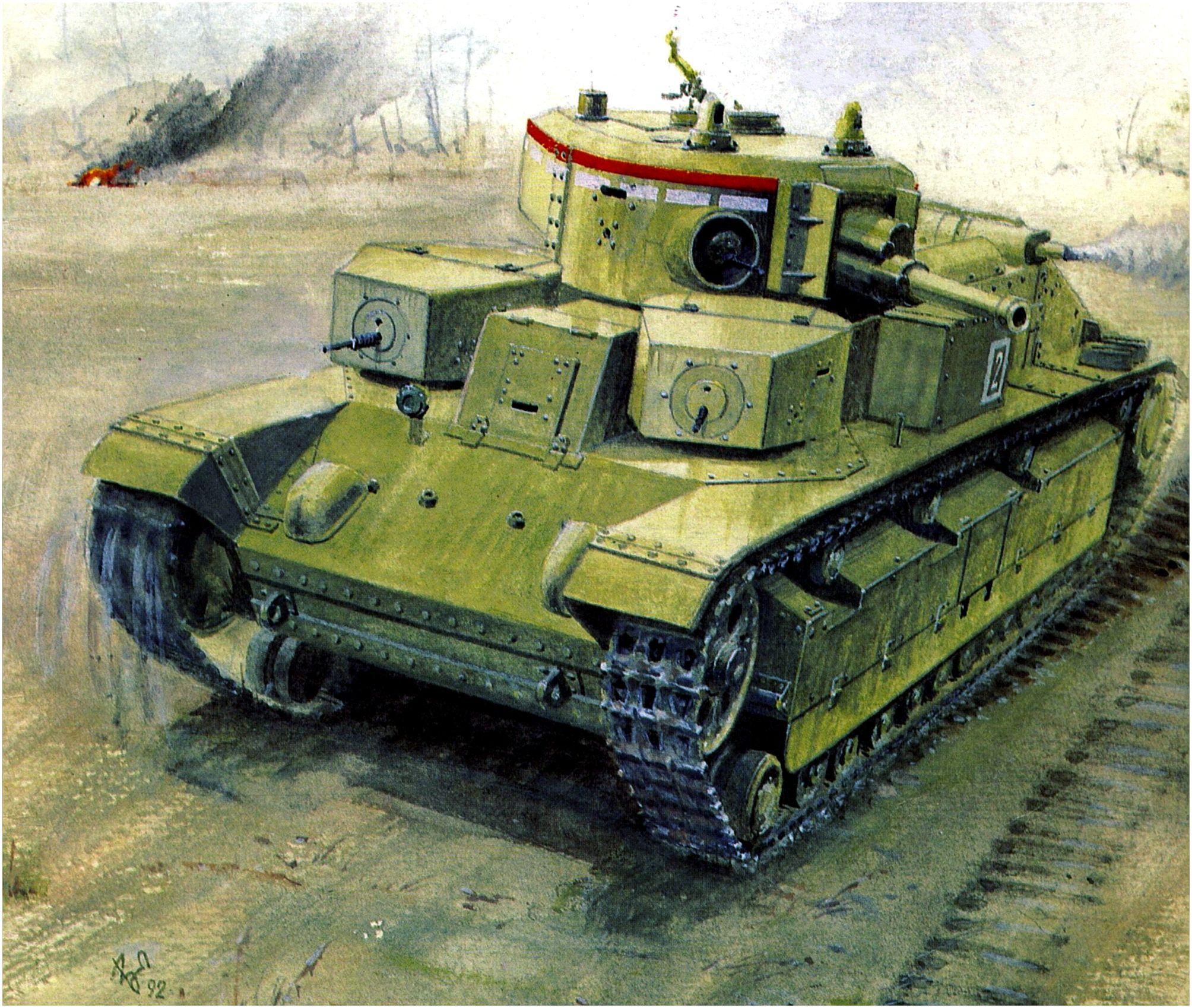 Емышев Владимир. Танк Т-28.