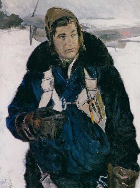 Серебряный Иосиф. Портрет летчика-истребителя И.М. Шишканя.