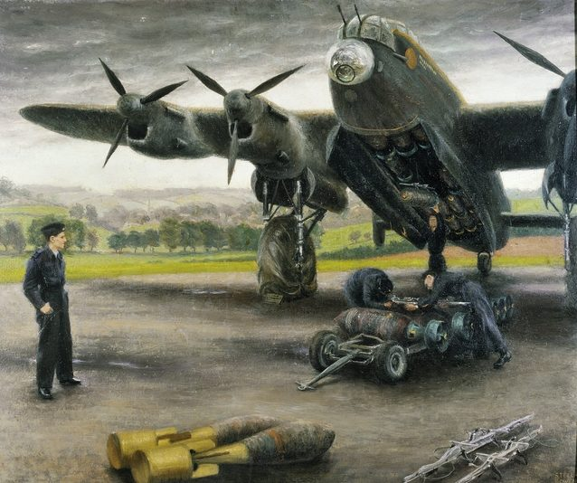 Bowen Stella. Подвеска бомб на Lancaster.