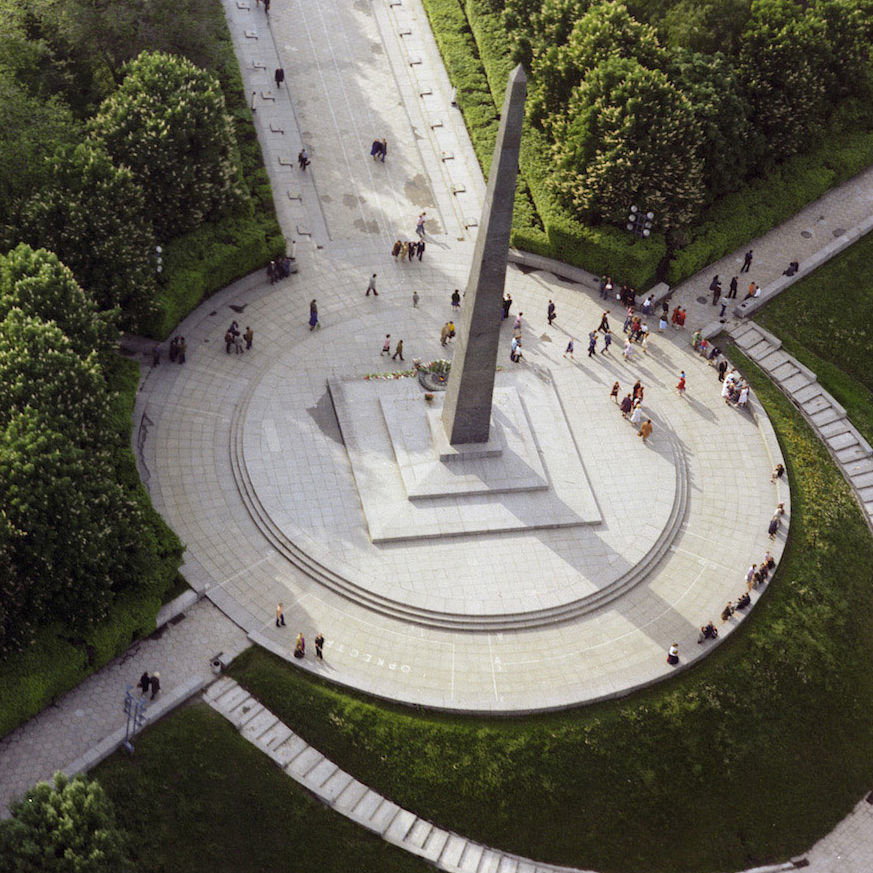 Вид сверху на могилу Неизвестного солдата.
