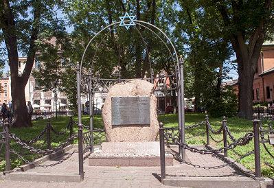 г. Краков. Мемориал Фонда Ниссенбаума в память об иудейских жертвах Второй мировой войны в районе Казимеж Кракова.