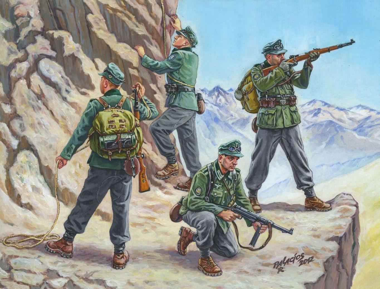 Паласиос-Фернандес Роберто. Немецкие горные стрелки.