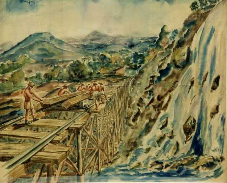 Bettany Desmond. Военнопленные на строительстве железной дороги. Бирма.