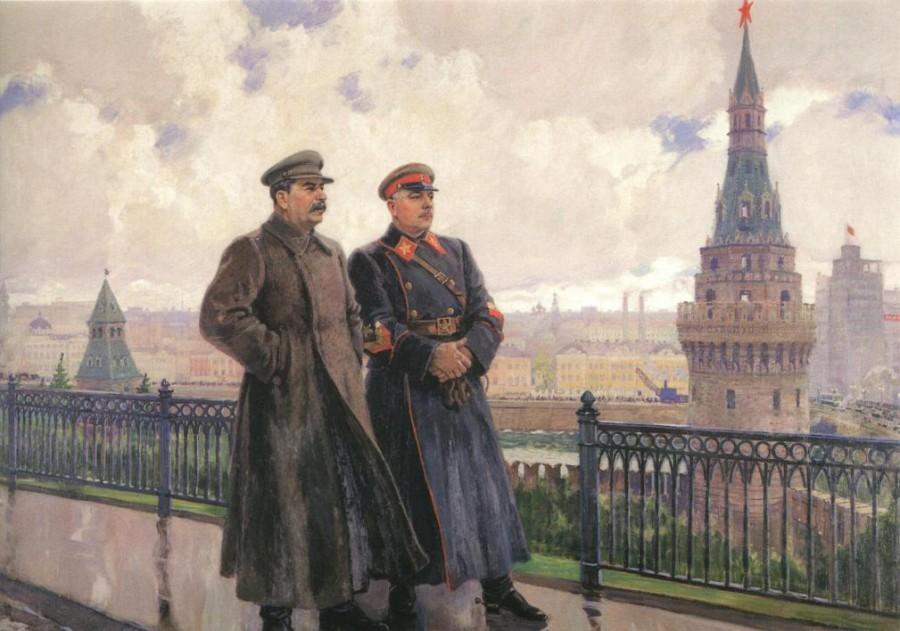 Герасимов Александр. Сталин и Ворошилов.