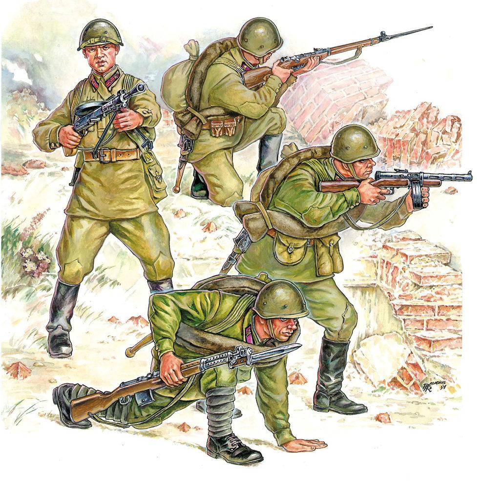 Паласиос-Фернандес Роберто. Советская пехота.
