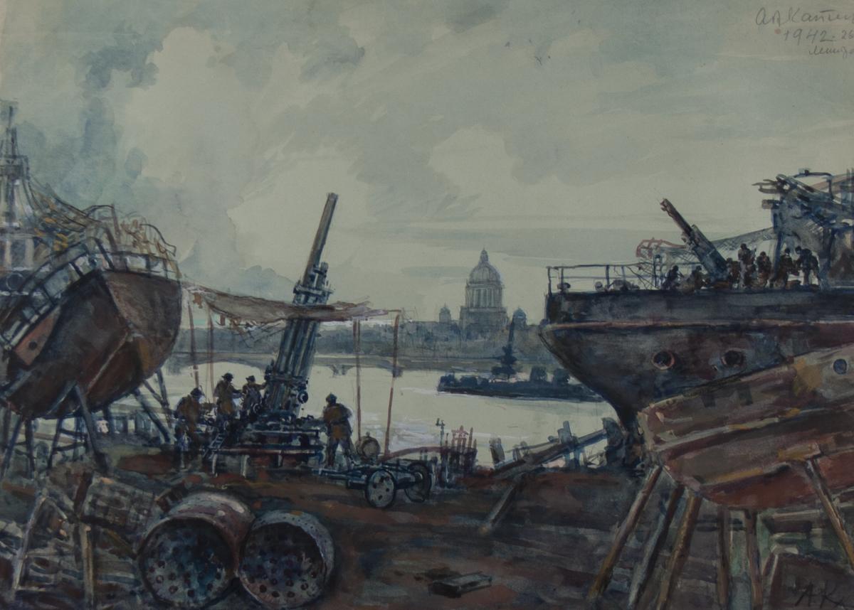 Каплун Андриан. Блокада на Васильевском острове.