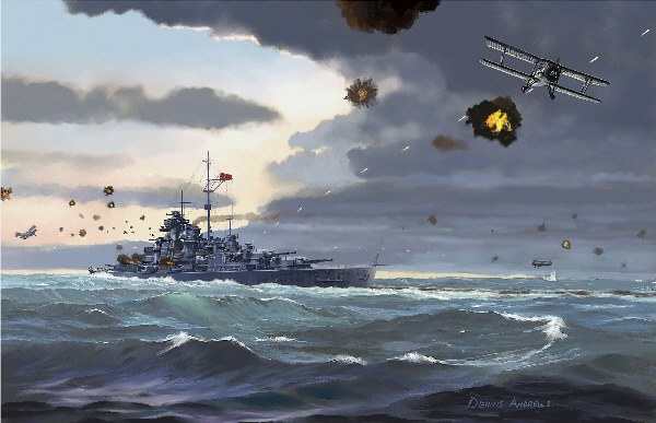 Andrews Dennis. Атака на линкор «Bismarck».