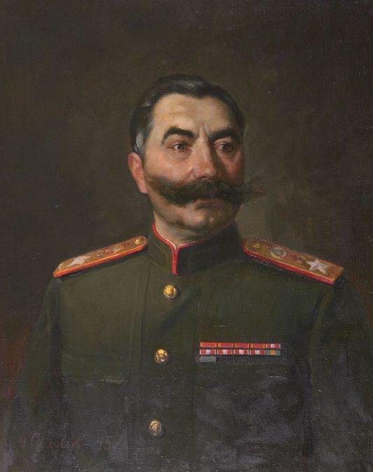 Соловьёв Александр. Портрет маршала С.М. Буденного.