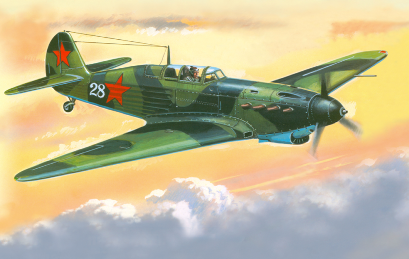 Руденко Валерий. Истребитель Як-7А.