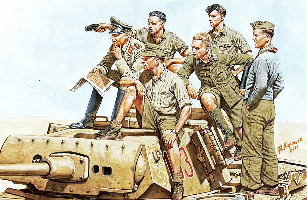 Каращук Андрей. Роммель и немецкий танковый экипаж.
