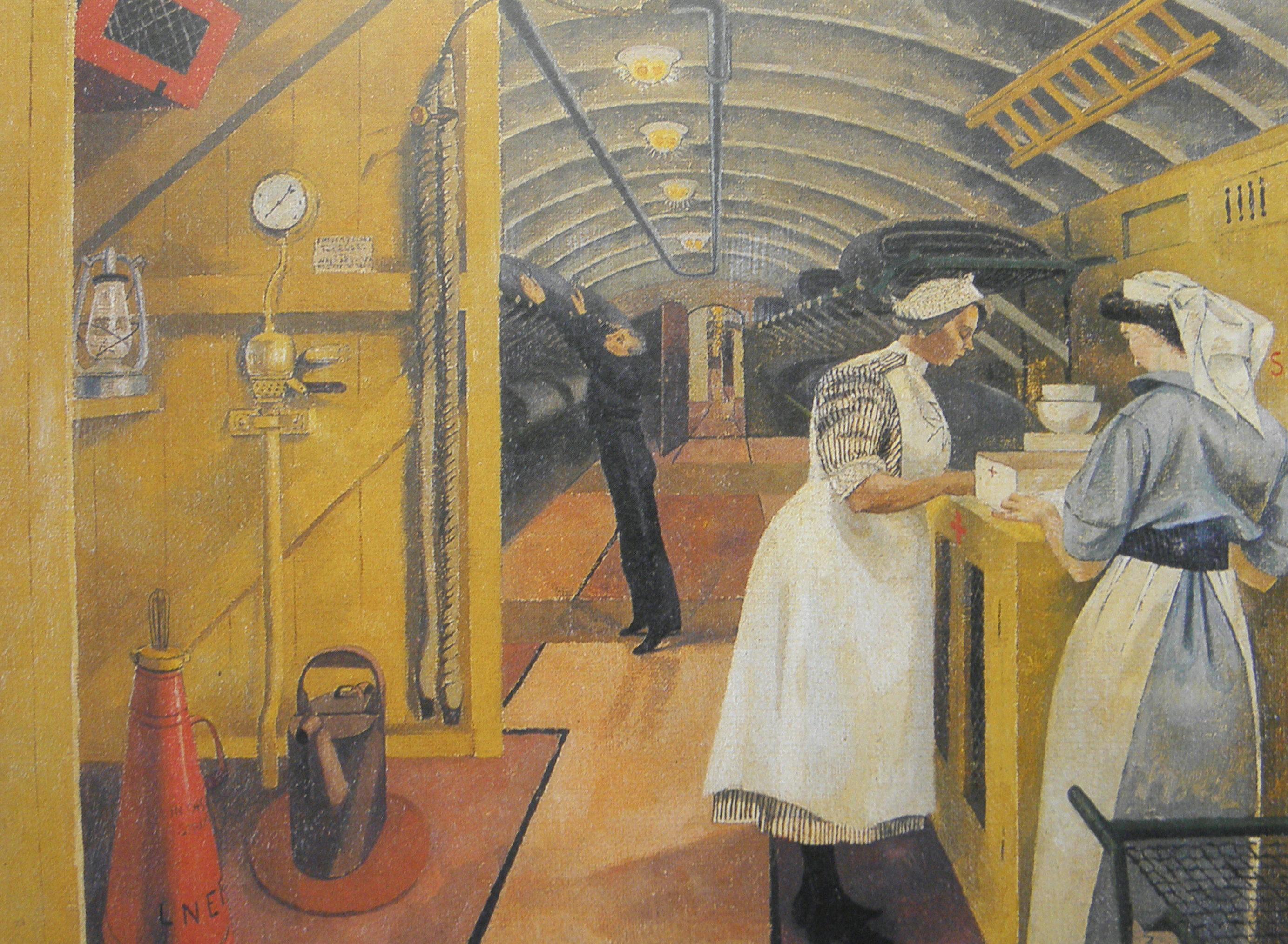 Dunbar Evelyn. Внутри санитарного поезда.
