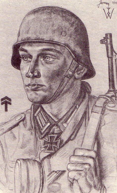 Willrich Wolfgang. Оберлейтенант Alfred Sermer.