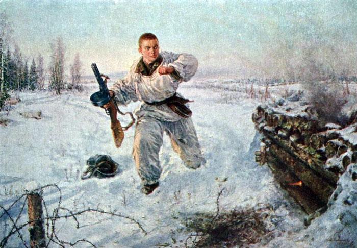 Памфилов Владимир. Александр Матросов. 23 февраля 1943.