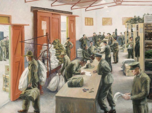 Bowen Stella. Вещевой склад для военнопленных.