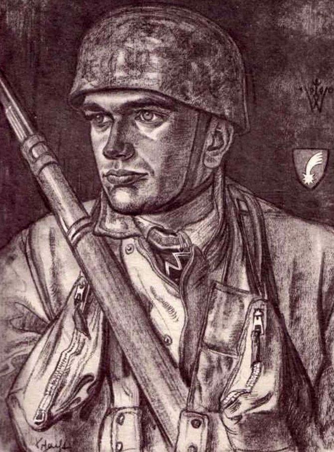 Willrich Wolfgang. Оберлейтенант Schacht.