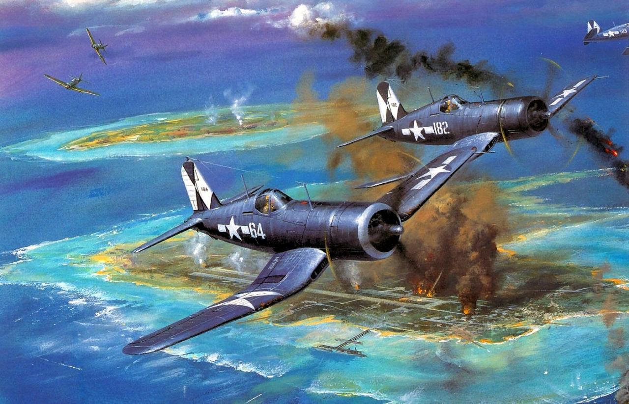 Cross Roy. Истребители F4U-1D «Corsair».