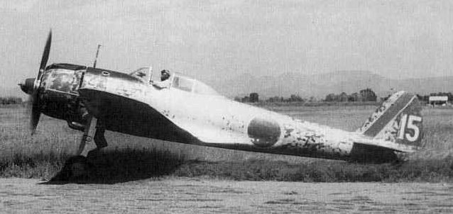 Самолет-камиказде Накадзима Ки-43. 1945 г.