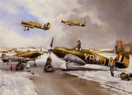 Murray Bob. Истребители Hawker Hurricanes.