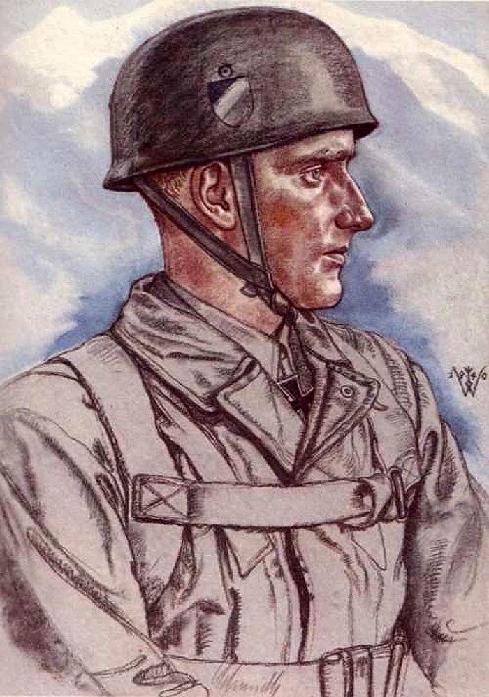 Willrich Wolfgang. Оберлейтенант Schmidt.