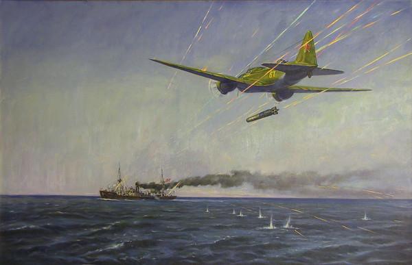 Петров-Маслаков Всеволод. Торпедная атака транспорта.