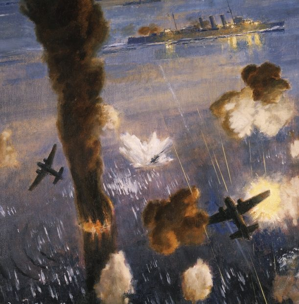 Adams Dennis. Атака камикадзе на крейсер «Australia».