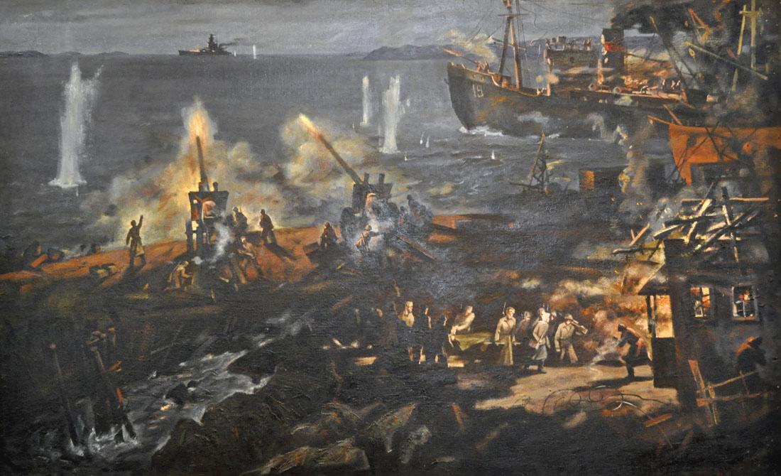 Петров-Маслаков Всеволод. Бой с линкором Адмирал Шеер у острова Диксон. 1942 г.