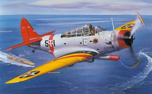 Cross Roy. Торпедоносец Douglas TBD Devastator.