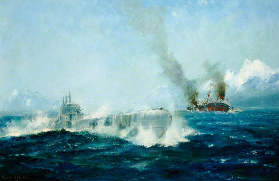Mason Frank Henry. Атака подлодкой танкера.