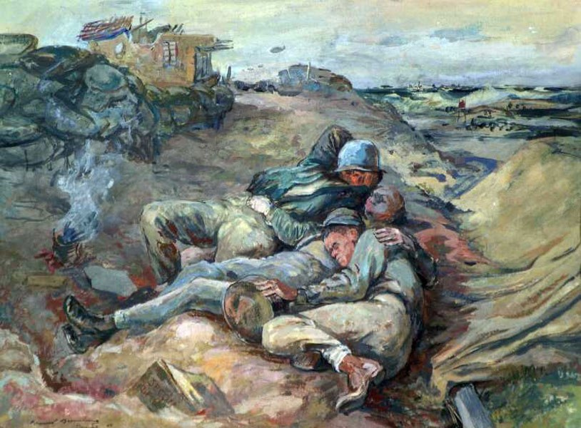 Bromberg Muanel. Высадка десанта в Нормандии.