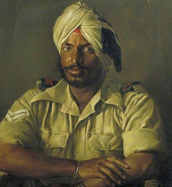 Berry John. Индийский военнослужащий Sikh-Atma Singh.
