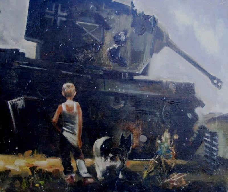 Жуков Николай. После уроков. 1945 год.