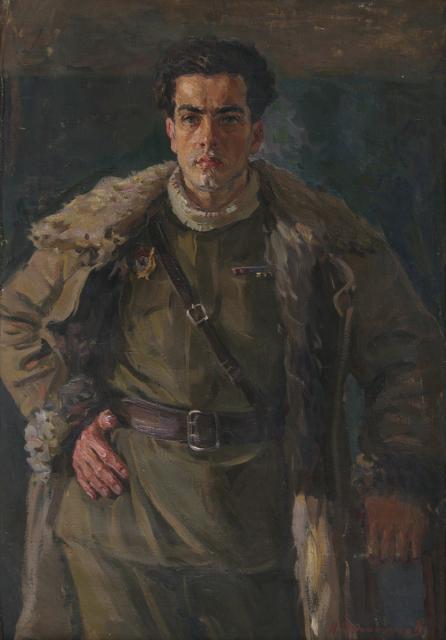Овчинников Николай. Портрет гвардии капитана Бабушкина.