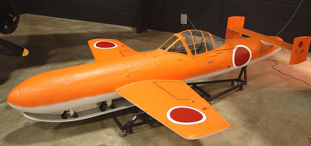 Самолет-санаряд -Yokosuka MXY7 Ohka в музее.