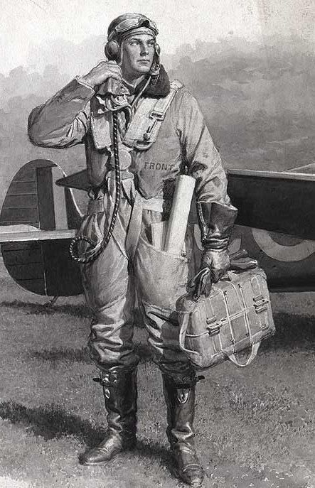Matania F. Британский летчик-истребитель.