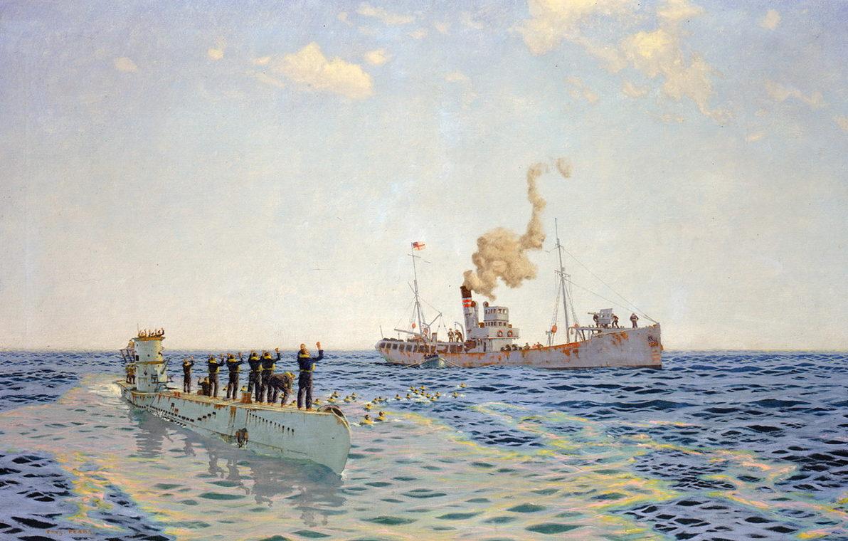 Pears Charles. Сдача в плен подлодки «U-111».