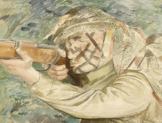 Pitchforth Vivian. Закамуфлированный снайпер.