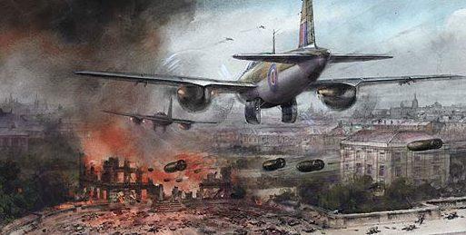 Turner Charles. Mosquito с бреющего полета бомбят Берлин.