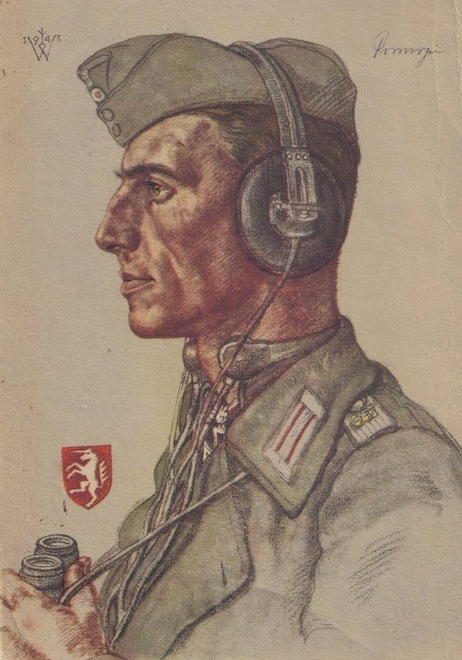 Willrich Wolfgang. Лейтенант Hugo Primozic.