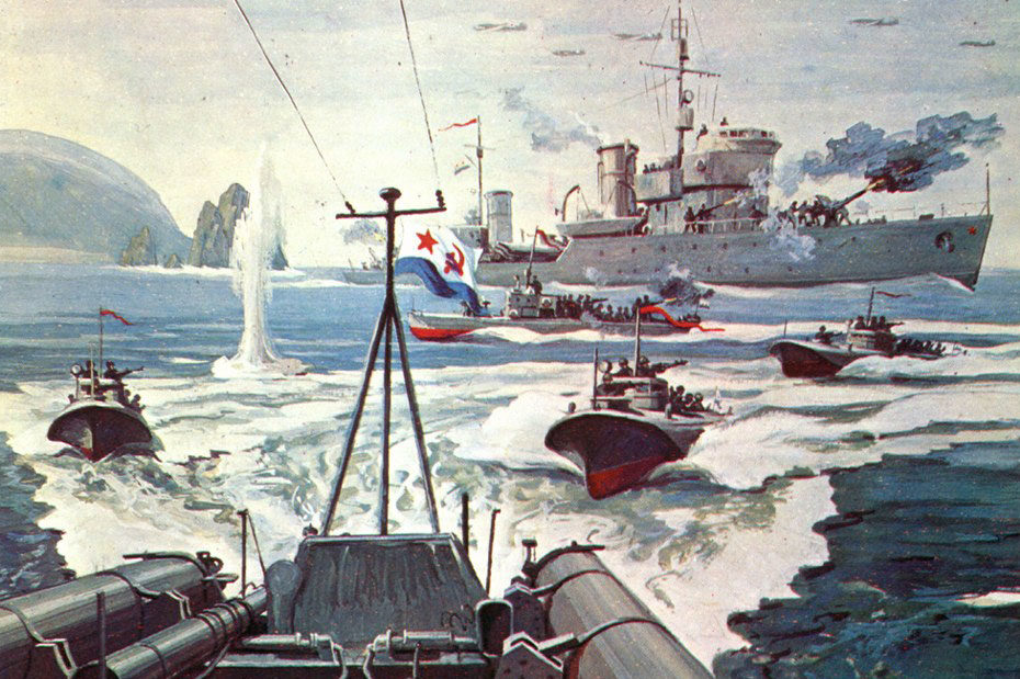 Сотсков Геннадий. Морской десант в порт Торо.
