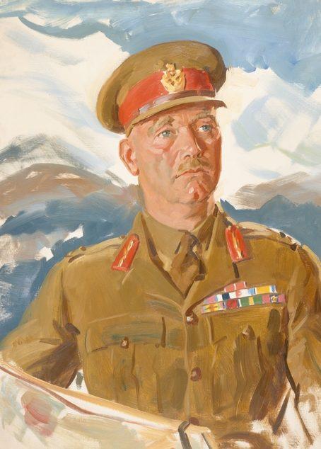 Dargie William. Генерал-майор Edmund Herring.