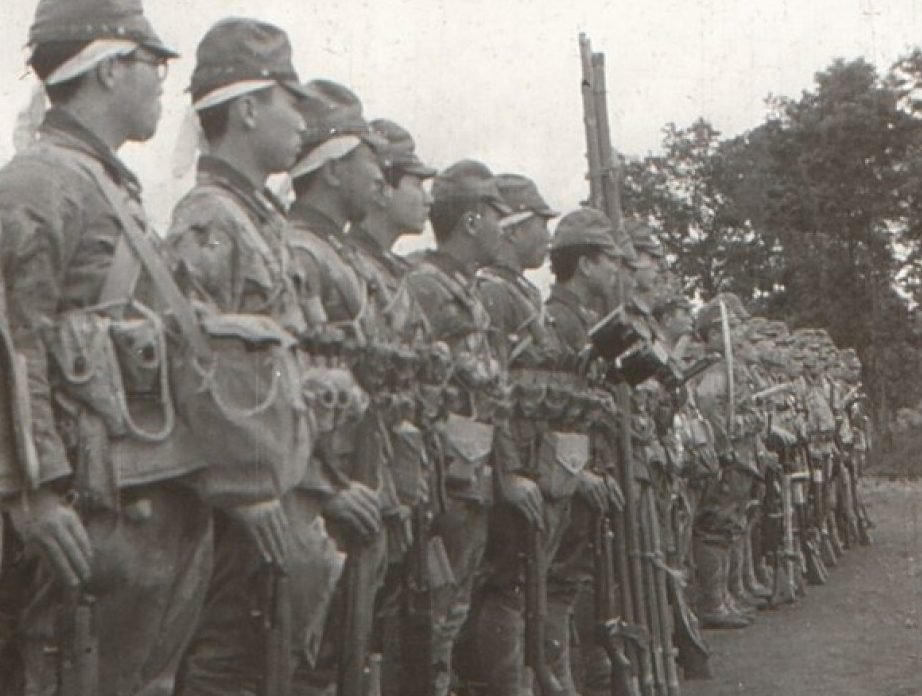 Строй десантников «Гирецу». 1945 г.