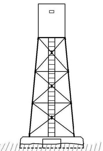 Рисунок-схема наблюдательной вышки 08P07.