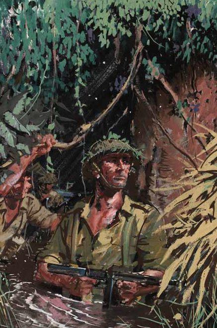 Uptton Clive. Британские солдаты в джунглях.