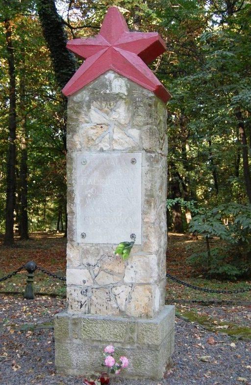 г. Глогувек, Прудницкий повят. Памятник погибшим воинам, установлен в городском парке возле замка.