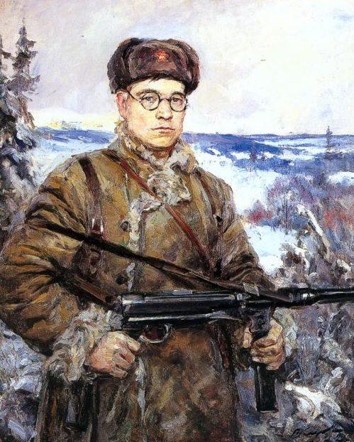 Серов Владимир. Портрет командира партизанского отряда Д.И.Власова.
