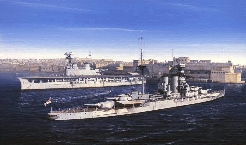 Berryman Ivan. Линкор «Barham» и авианосец «Eagle».