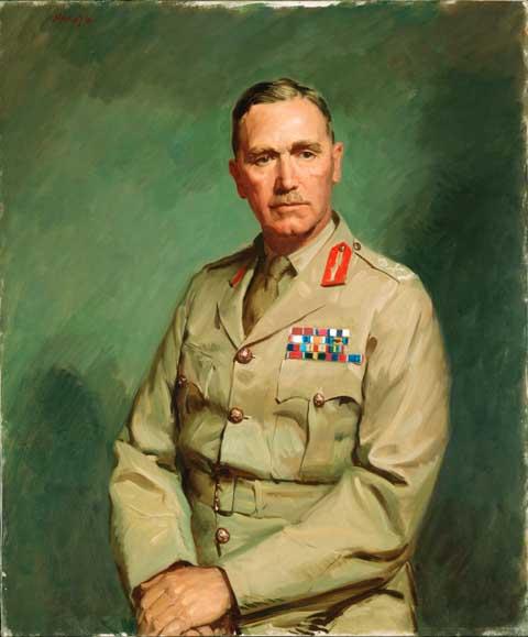 Dargie William. Генерал Edmund Herring.