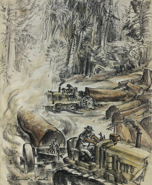 Emerson Curtis. Заготовка леса для военных нужд.