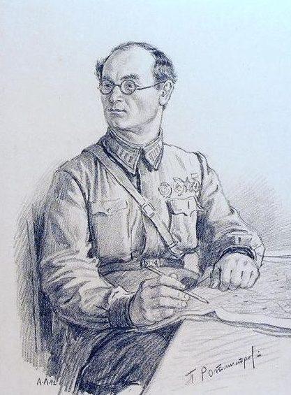 Лаптев Алексей. Портрет полковника П. Ротмистрова.